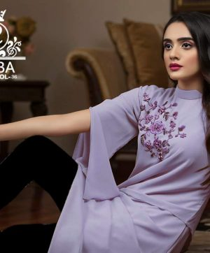 LAIBA DESIGNER TUNICS AM VOL 36 PURPLE
