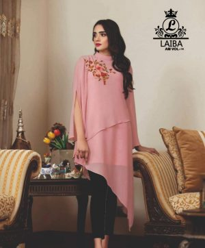LAIBA DESIGNER TUNICS AM VOL 36 BERRY PINK