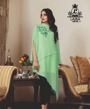 LAIBA DESIGNER TUNICS AM VOL 36 PISTA GREEN
