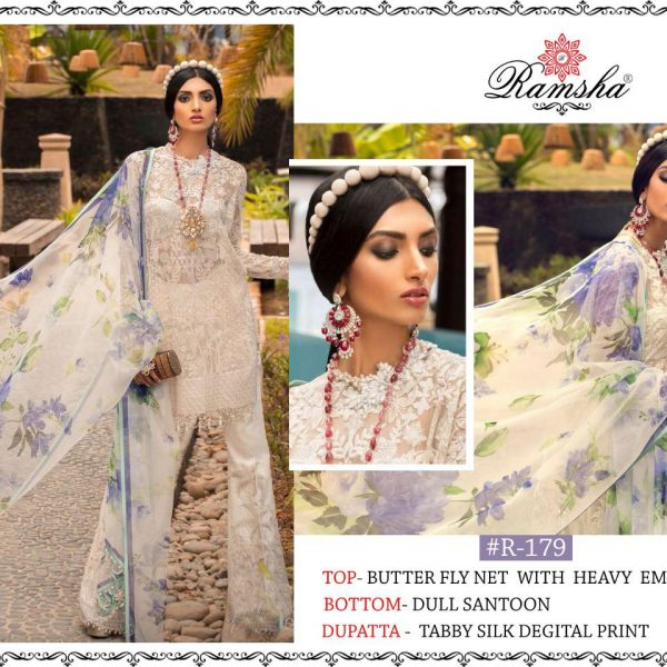 RAMSHA R 179 PAKISTANI SUITS WHOLESALE IN SURAT