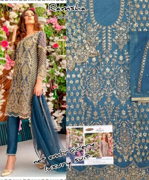 RAMSHA R 182 PAKISTANI SUITS WHOLESALE IN SURAT