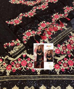 FEPIC FANTASY 55001 BLACK PAKISTANI SUIT
