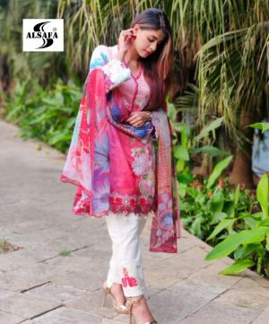 AL SAFA FLORAL FANTASY A 28 PAKISTANI SUITS