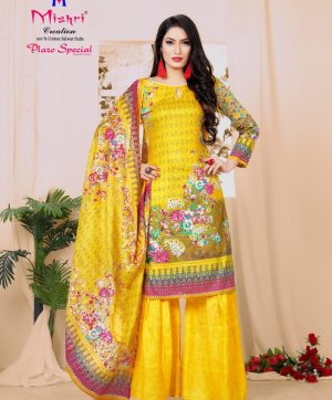 MISHRI CREATION PLAZO SPECIAL KARACHI SUIT IN SINGLE