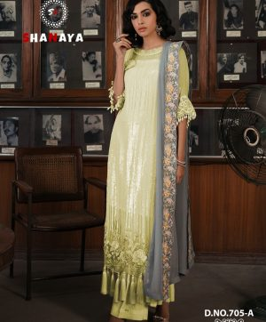 SHANAYA ROSE 705 YELLOW SEQUENCE WORK SUIT