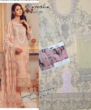 RAMSHA R 181 PAKISTANI SUITS WHOLESALE IN SURAT