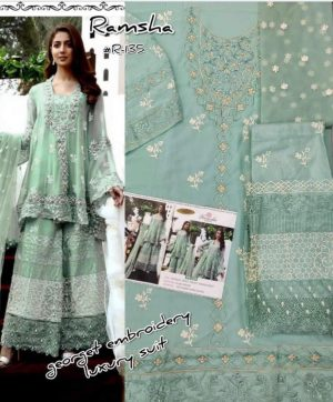 RAMSHA R 135 PAKISTANI SUITS WHOLESALE IN SURAT
