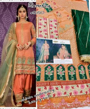 RAMSHA R 150 PAKISTANI SUITS WHOLESALER