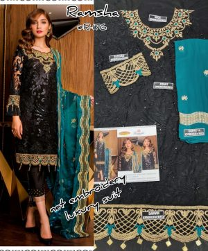 RAMSHA R 176 PAKISTANI SUITS WHOLESALER