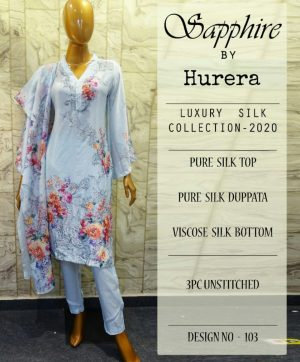 SAPPHIRE BY HURERA SILK COLLECTION SINGLE PIECE