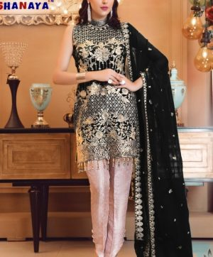 SHANAYA ROSE BLOSSOM 10001 BLACK PAKISTANI SUIT