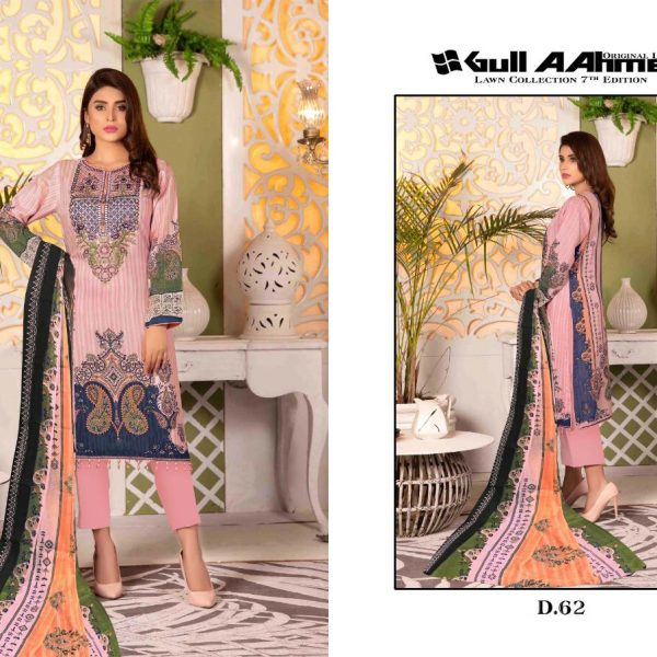 GULAHMED VOL 7 KARACHI PRINTED SUITS IN SINGLE 1