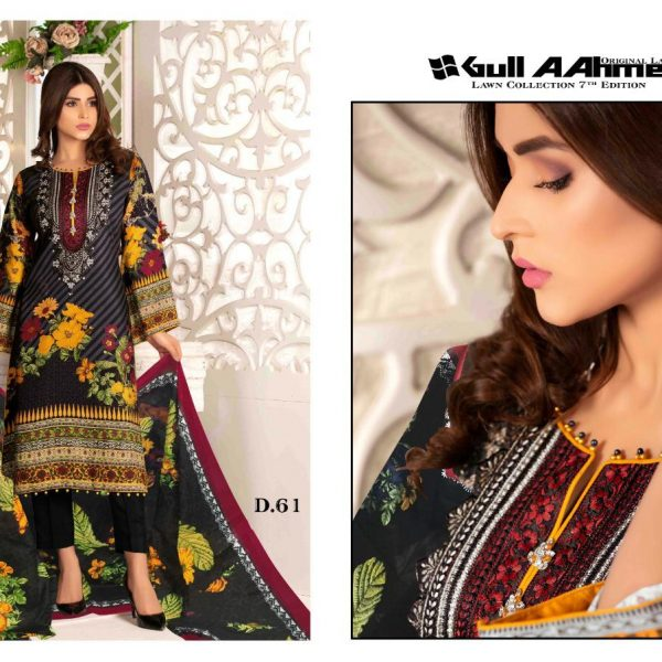 GULAHMED VOL 7 KARACHI PRINTED SUITS IN SINGLE 10