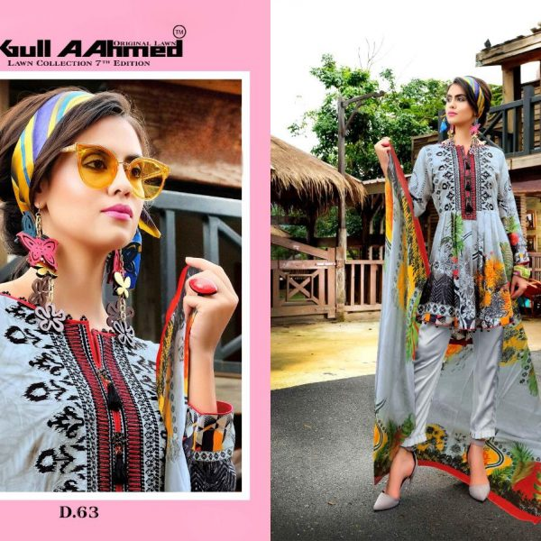 GULAHMED VOL 7 KARACHI PRINTED SUITS IN SINGLE 2