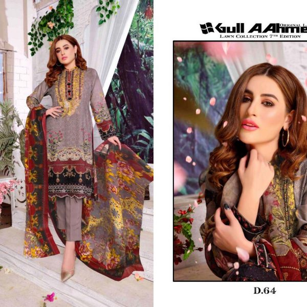 GULAHMED VOL 7 KARACHI PRINTED SUITS IN SINGLE 3