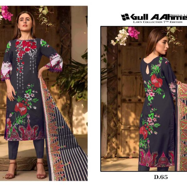 GULAHMED VOL 7 KARACHI PRINTED SUITS IN SINGLE 4