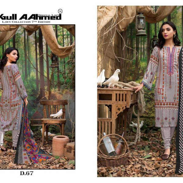 GULAHMED VOL 7 KARACHI PRINTED SUITS IN SINGLE 6