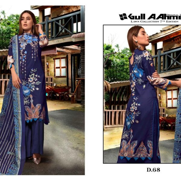 GULAHMED VOL 7 KARACHI PRINTED SUITS IN SINGLE 7