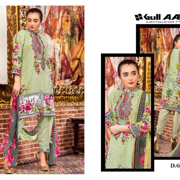 GULAHMED VOL 7 KARACHI PRINTED SUITS IN SINGLE 8