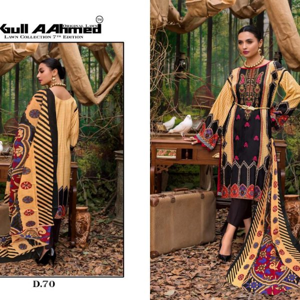 GULAHMED VOL 7 KARACHI PRINTED SUITS IN SINGLE 9