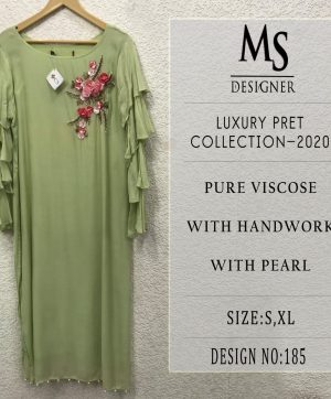 MS DESIGNER LUXURY PRET KURTI WHOLESALE