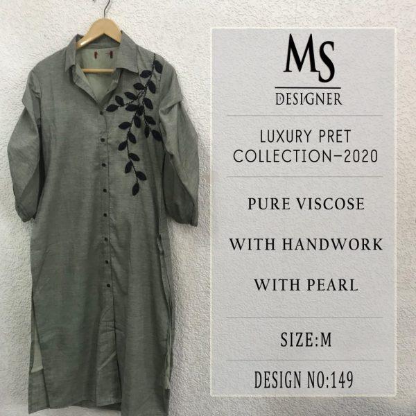 MS DESIGNER LUXURY PRET KURTI WHOLESALE11