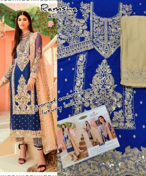 RAMSHA R 184 PAKISTANI SUITS IN SINGLE PIECE