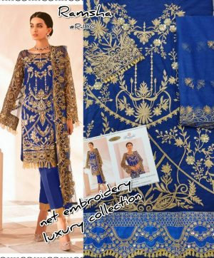 RAMSHA R 186 PAKISTANI SUITS IN SINGLE PIECE