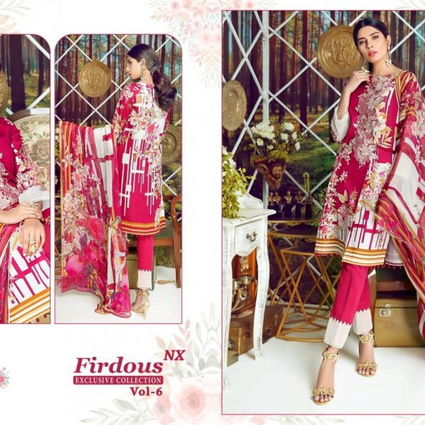 SHREE FABS FIRDOUS VOL 6 7016 PINK COTTON SUIT