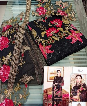 SHREE FABS S 107 BLACK PAKISTANI SUIT WHOLESALER
