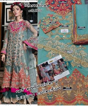 RAMSHA R 224 PAKISTANI SUITS IN SINGLE PIECE