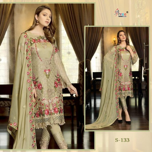SHREE FABS S 133 PAKISTANI SUITS IN SINGLE PIECE