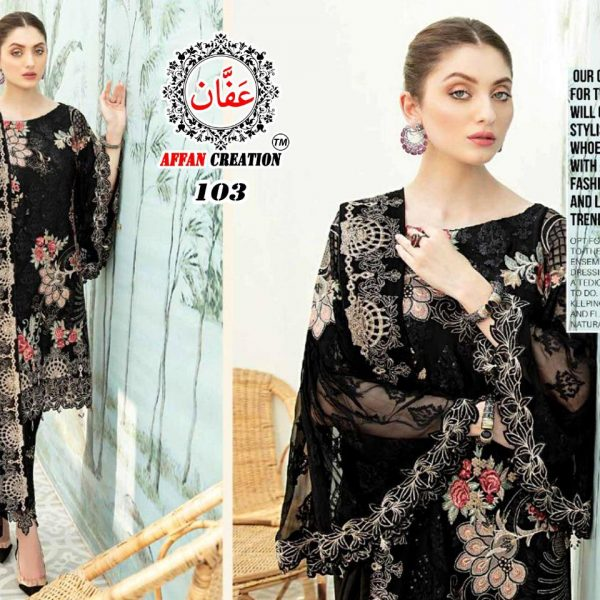 AFFAN CREATION 103 PAKISTANI SUITS MASTER REPLICA