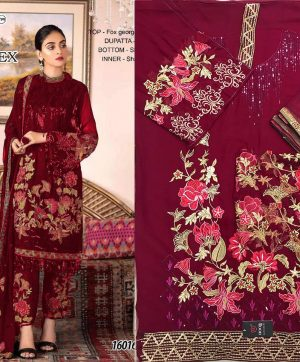 HOOR TEX 16016 PAKISTANI SUITS IN SINGLE