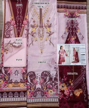 AL MEERA CRIMSON 1209 PAKISTANI SUITS WHOLESALER