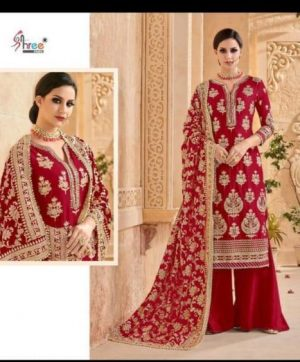 SHREE FABS MUTIYAAR GOLD RED COLOR SUIT WHOLESALE