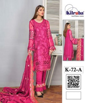 KILRUBA K 72 A PINK PAKISTANI SUIT SUPPLIER