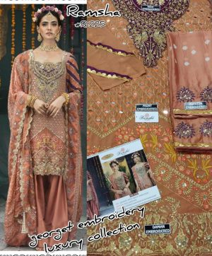 RAMSHA R 225 PAKISTANI SUITS IN SINGLE PIECE