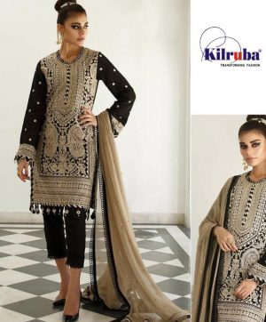 KILRUBA K 74 GEORGETTE PAKISTANI SUITS WHOLESALER