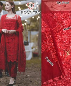 HOOR TEX 18002 GEORGETTE PAKISTANI SUITS IN SINGLE