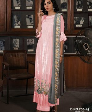 HOOR TEX 705 PINK COLOR PAKISTANI STYLE SUITS