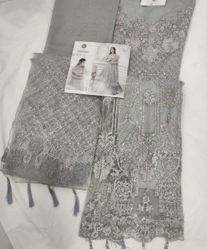 SHREE FABS S 108 B GREY IN SINGLE PIECE ONLINE