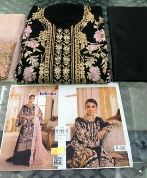KILRUBA 80 LATEST BLACK PAKISTANI SUITS WHOLESALER