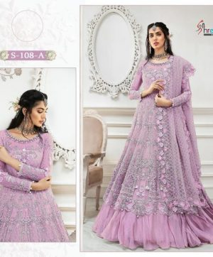 SHREE FABS S 108 A PINK IN SINGLE PIECE ONLINE