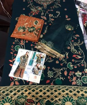 SHREE FABS S 134 GREEN PAKISTANI SUITS IN SINGLE PIECE