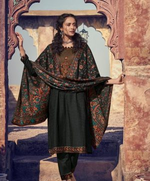 MUMTAZ ARTS SHIKARGAH 3003 PASHMINA SUITS IN SINGLES