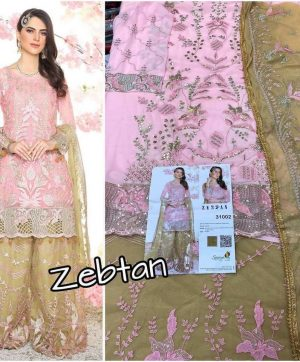SANIYA TRENDZ ZEBTAN PAKISTANI SUITS WITH FREE SHIPPING