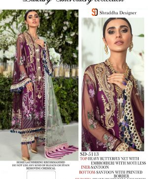 SHRADDHA DESIGNER SD 5113 PAKISTANI SUITS