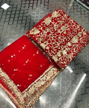HOOR TEX BRIGHT RED COLOR PAKISTANI SUIT WHOLESALE