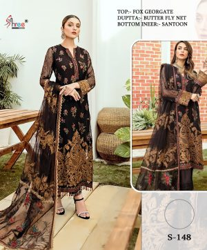 SHREE FABS S 148 PAKISTANI SUITS FREE SHIPPING